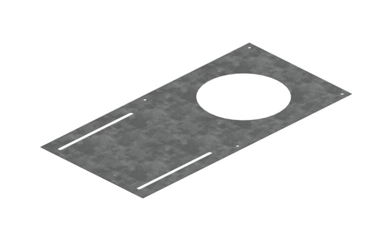 """Picture of 6"""" Mounting Plate (Black)"""