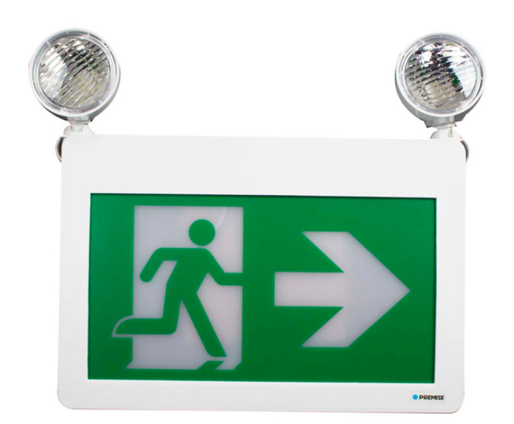 Picture of Running Man Sign w/ Light Head